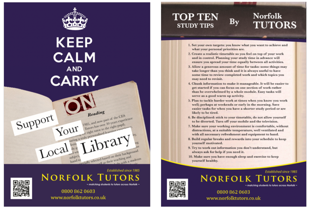 Norfolk tutors: Norfolk Libraries, Keep calm and carry on reading; support your local library